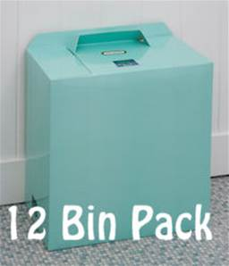 MINT GREEN BINS 12 PACK