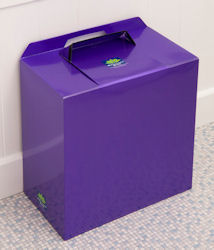 PURPLE METALLIC SANITARY BINS
