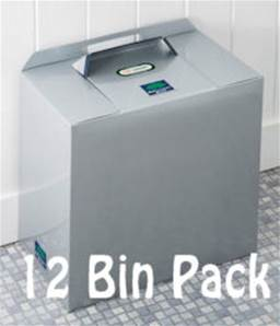 SILVER GREY METALLIC BINS 12 PACK