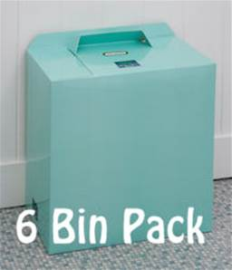 MINT GREEN BINS 6 PACK