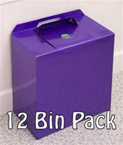 METALLIC PURPLE BINS 12 PACK