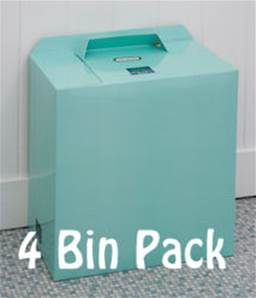 MINT GREEN BINS 4 PACK