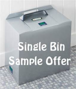 SILVER GREY METALLIC SINGLE BIN TRIAL/STARTER PACK